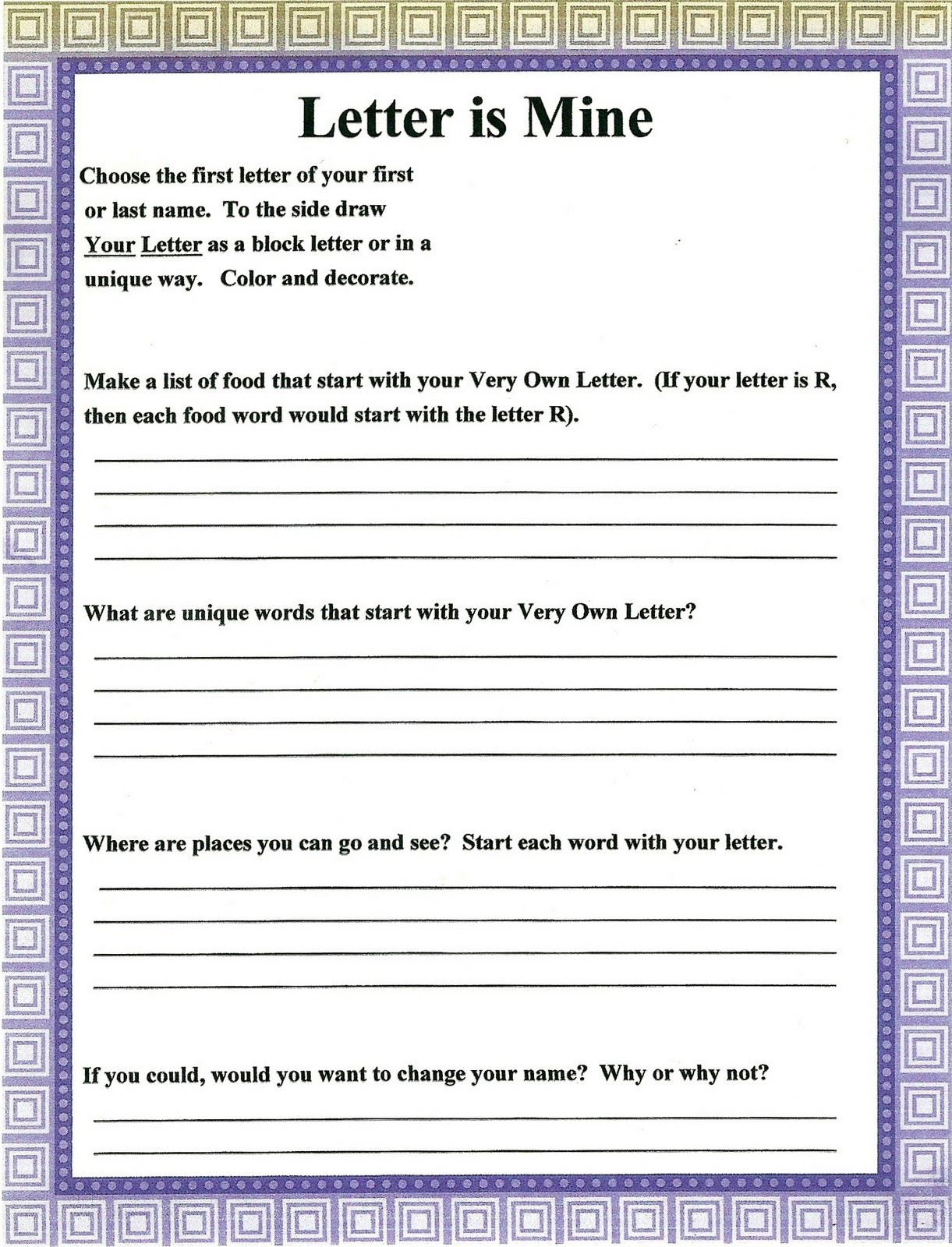 worksheet Character Counts Worksheets lorinda character education my favorite and letter is mine self education