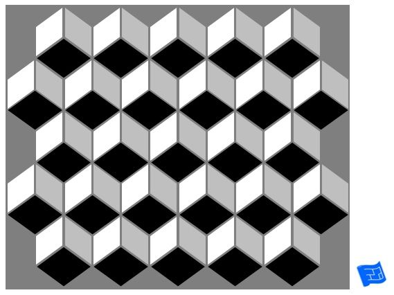 3D cube geometric tile pattern. For more on tile patterns and home ...