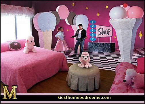 The Big Ice Cream Sundaes For The Guest Room 50s Bedroom Bedroom Themes 50s Party Decorations