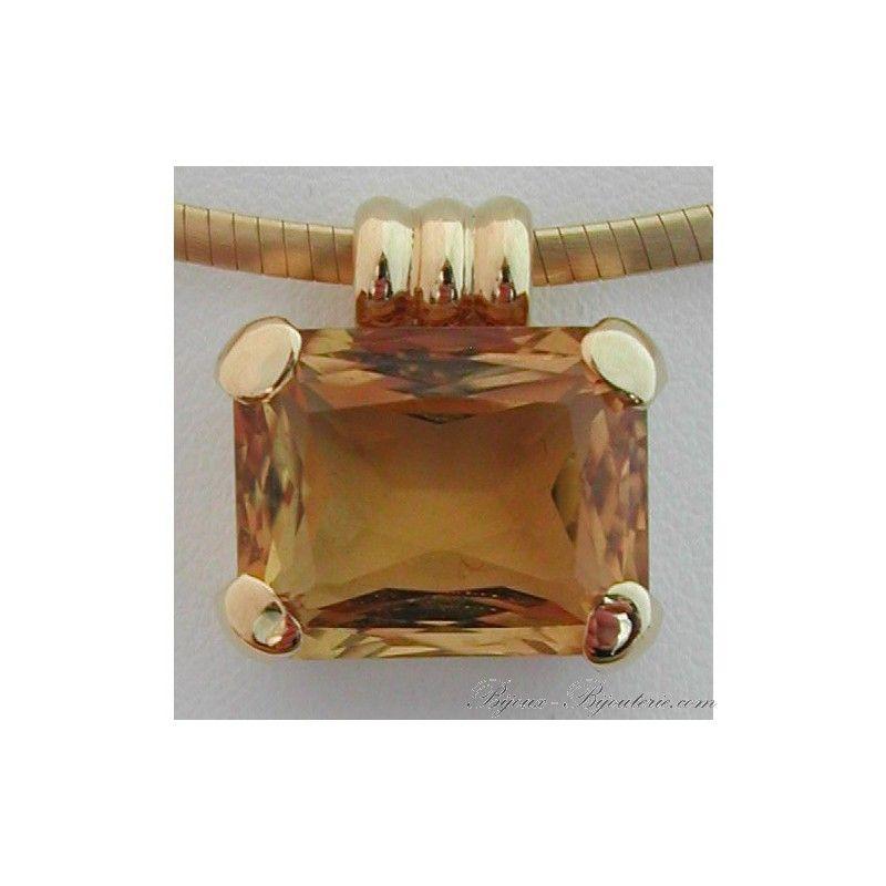 Bijoux anciens et occasion - Magasin de bijoux à Paris - Pendentifs occasion : Pendentif or citrine 27 - bijoux bijouterie Paris