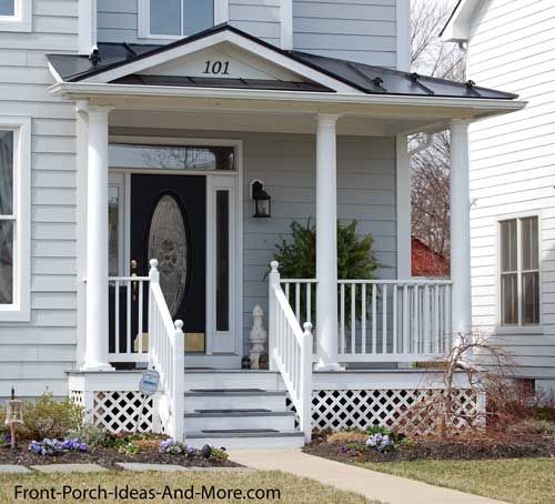 Picture Of Front Porch Roof Design You How They Replicated The Color With That