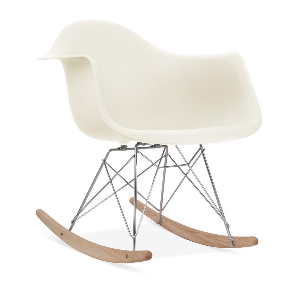 charles e style gebrochenes wei rar schaukelstuhl - Charles Eames Schaukelstuhl