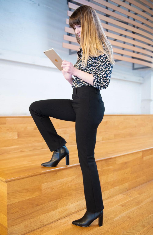 Straight Leg 7 Pocket Dress Pant Yoga Pants Black Dress Yoga Pants Dress Pants Outfits Black Slacks Outfit [ 1540 x 1000 Pixel ]