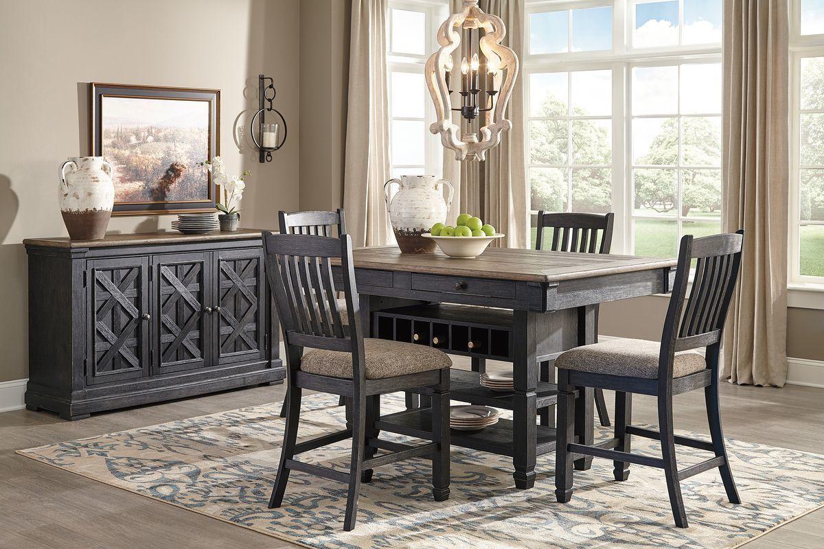 Tyler Creek Black Gray 6 Pc Rectangular Counter Table 4