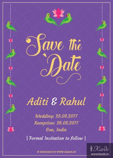 Vibrant Parrot Invitation Design Online Kards Wedding card