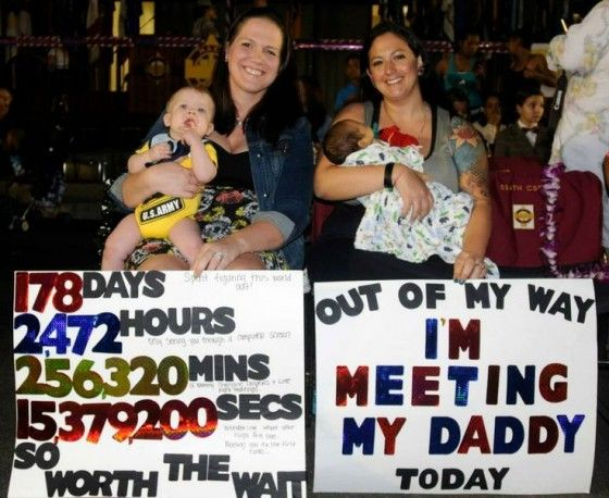 out of my way meeting my daddy military welcome home pinterest