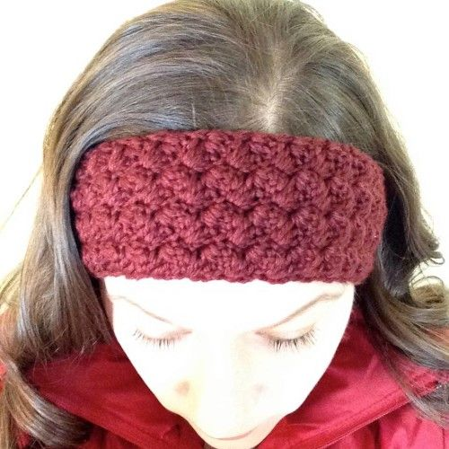 Ripple Shell Ear Warmer Free Pattern and picture instructions ...