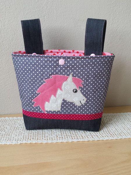 """Lenkertaschen - Lenkertasche, Laufradtasche, """"Pferd"""" - ein Designerstück von Lisa-Toews bei DaWanda"""