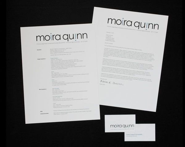 modern coordinated cover letter and resume tech writing media