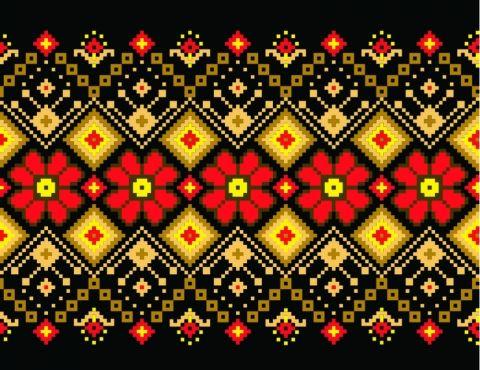 украинский орнамент | Cross stitch - Kreuzstich | Pinterest | Muster ...