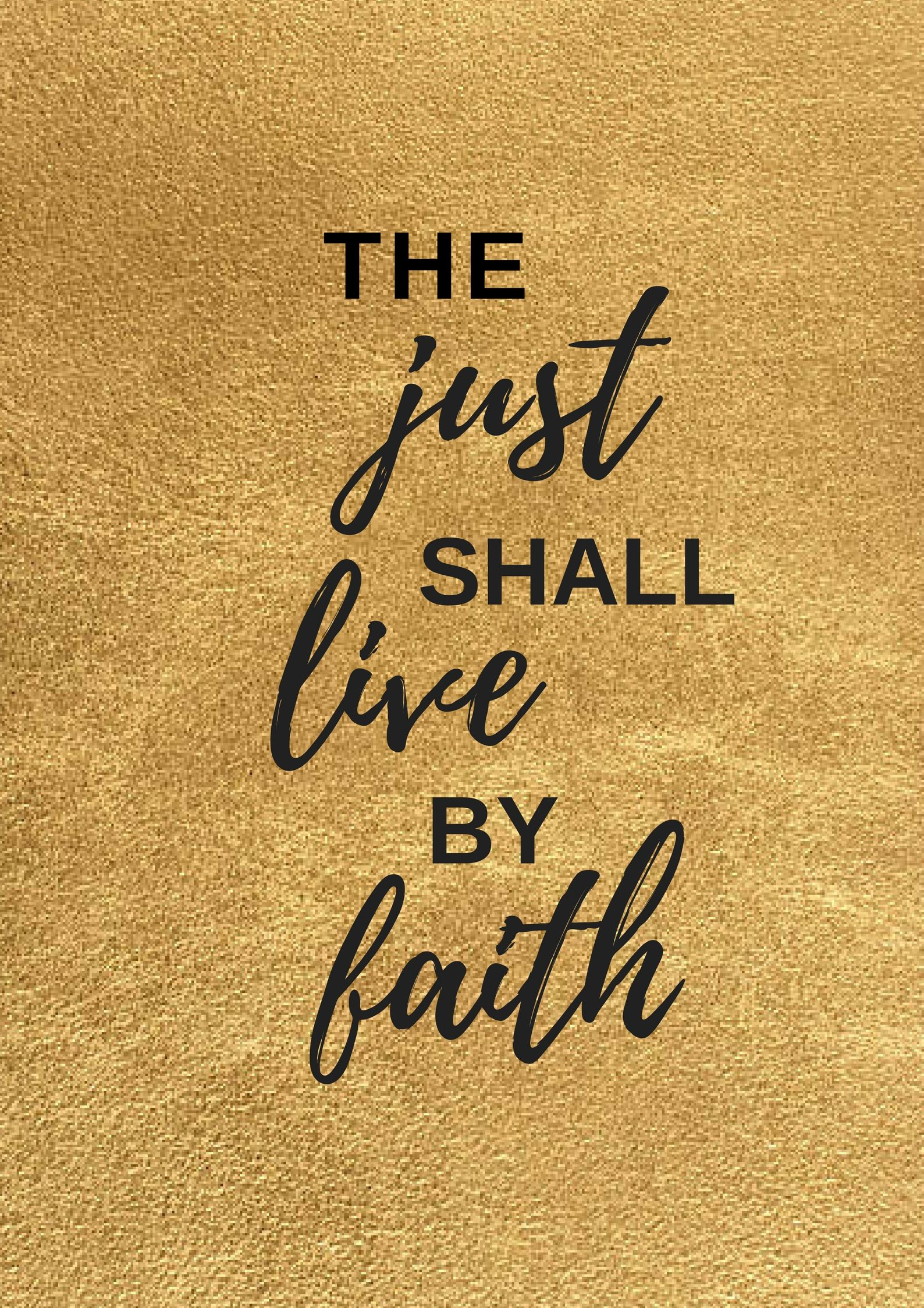 The just shall live by faith. #quotes #livebyfaith #faith #quotes #inspirational #bible #truth | Faith, Inspirational  quotes, Love facts