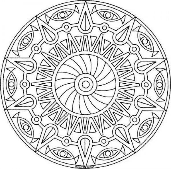 Zor Mandala Google Da Ara Boyama Sayfalari Boyama Kitaplari Mandala