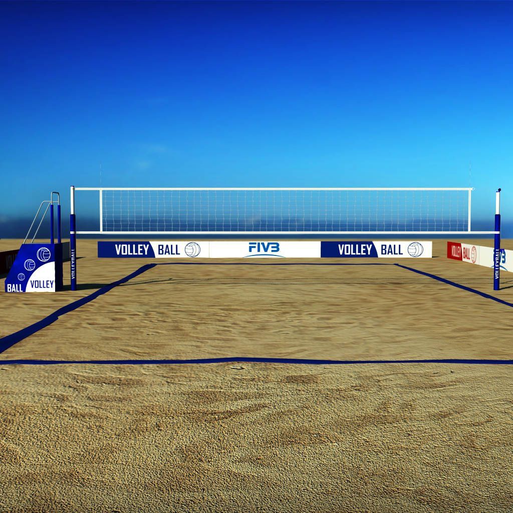 Beach Volleyball Court Low Poly Volleyball Beach Poly Court Beach Volleyball Court Beach Volleyball Volleyball