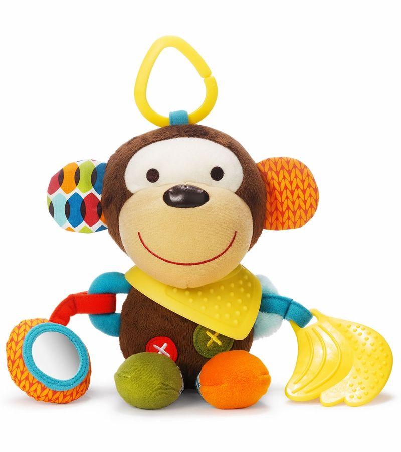 Skip Hop Bandana Buddies Monkey Stroller Toys Baby Activity Toys Animal Plush Toys