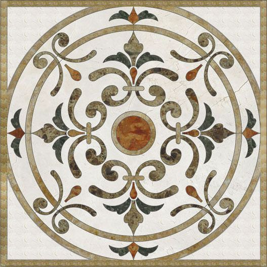 luxurious home and hotel decorative natural marble stone waterjet