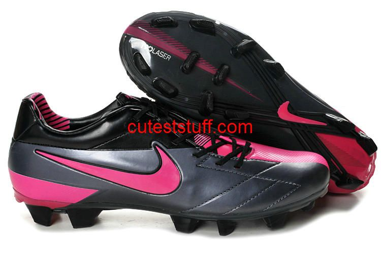 excusa Amplia gama Recurso  Nike T90 Laser IV FG Gray Pink Black   Cheap soccer shoes, Pink soccer  cleats, Nike soccer shoes
