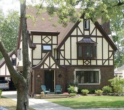 Example of tudor revival style built in 1920s and 1930s when many exceptional homes were built
