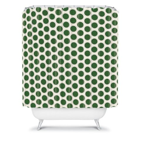 Holli Zollinger Pincushion Dot Shower Curtain #dot #polkadot #pattern #home #decor #bath #bathroom