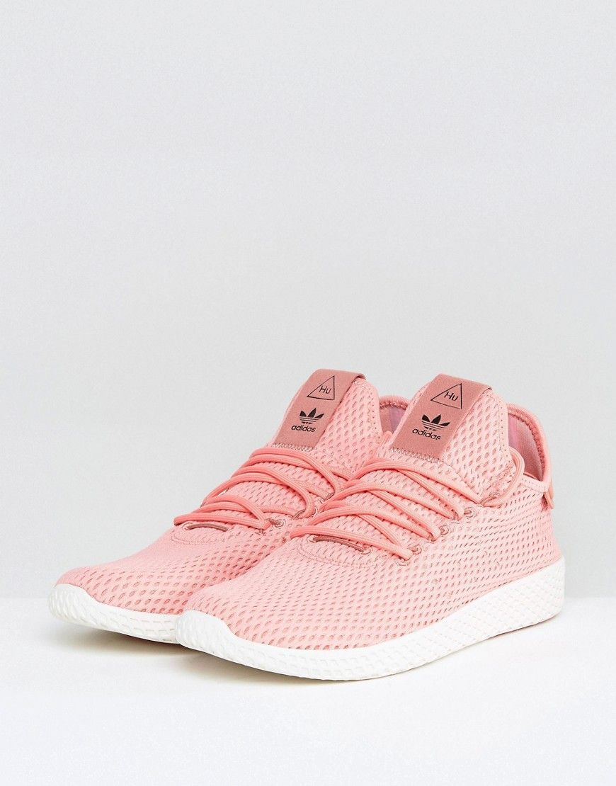 size 40 9a98a 867e6 adidas Originals x Pharrell Williams Tennis HU Sneakers In Pink BY8715