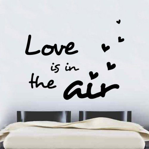 East Urban Home Love Is In The Air Decal Vinyl Wall Sticker Wall Stickers Black Wall Stickers Vinyl Wall Stickers