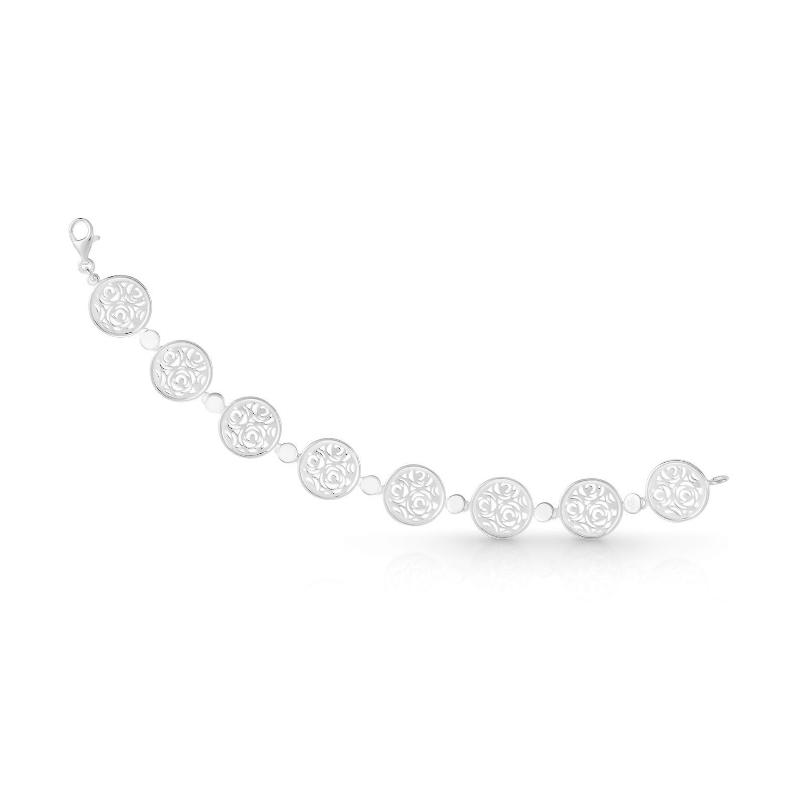 sterling silver tous rosa d abril bracelet 1 5cm x 18 5cm 9 sterling silver tous rosa d abril bracelet 1 5cm x 18