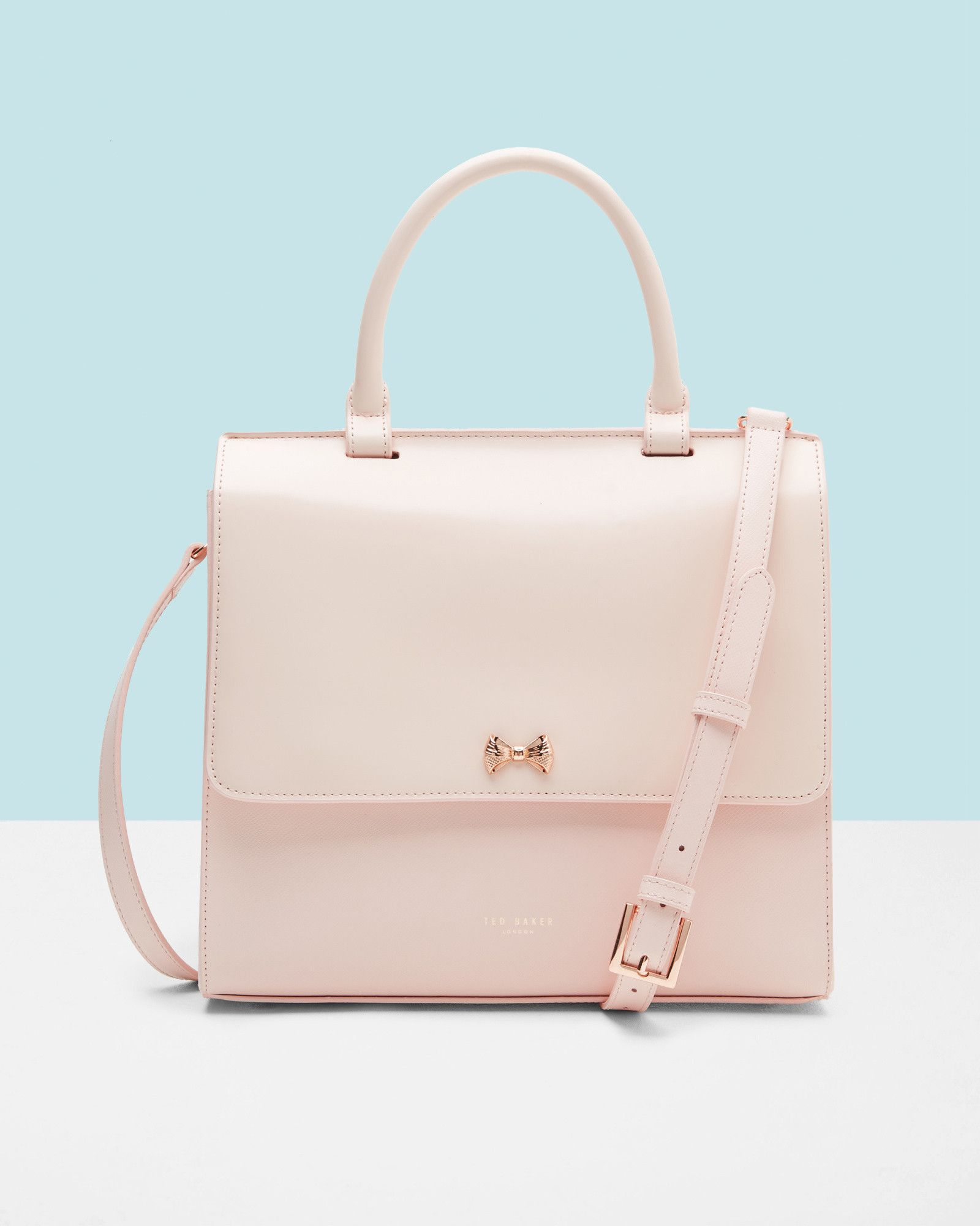 Top Handle Leather Bag Pale Pink Bags Ted Baker Uk