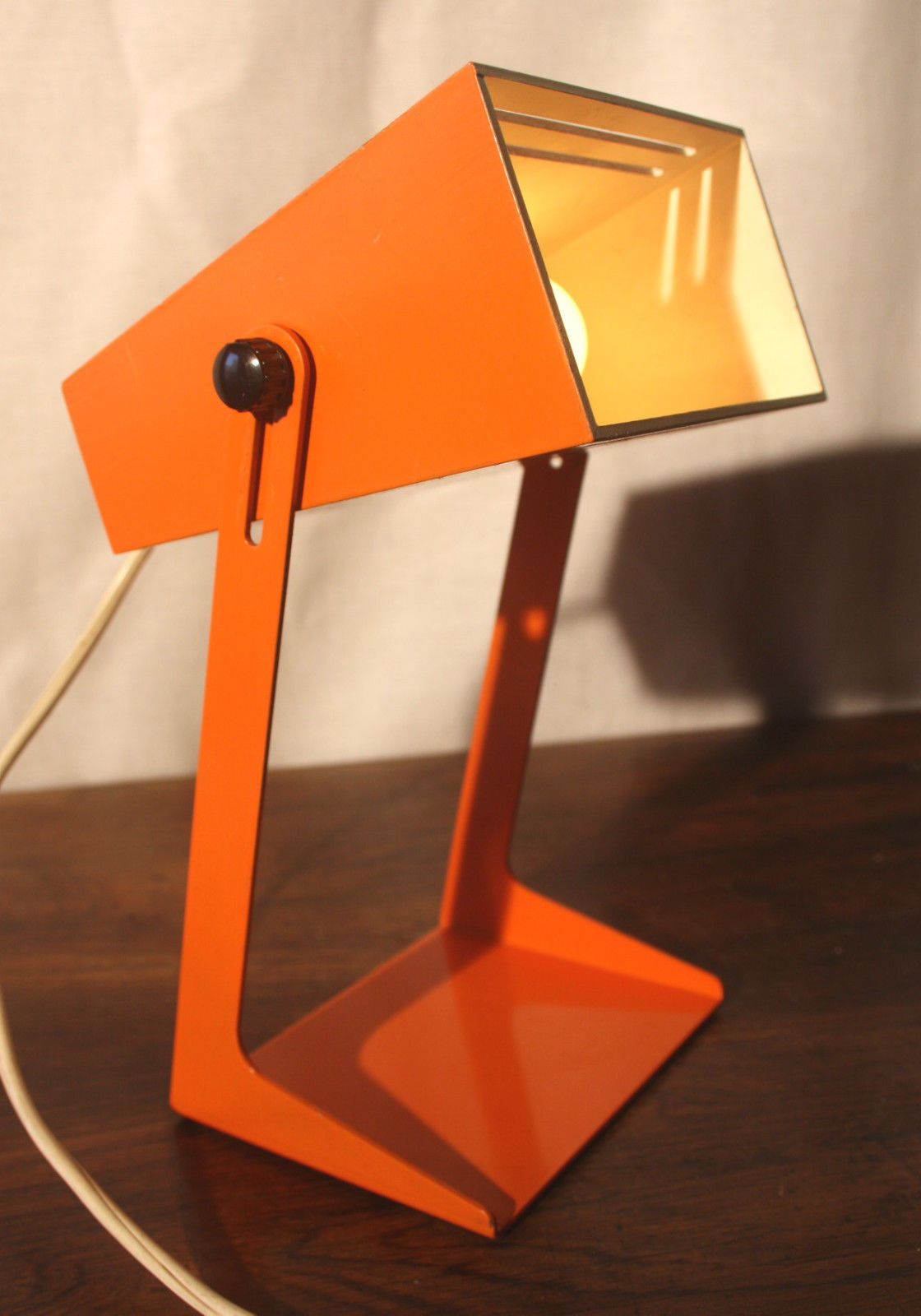Lampe Vintage Orange Années 70 Panton Space AGE Poulsen Lamp ...