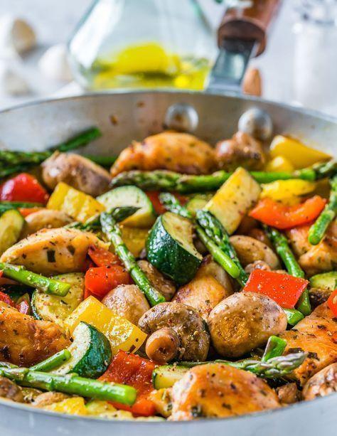 Eine Pan Italian Chicken Skillet  New Ideas One Pan Italian Chicken Skillet One Pan Italian Chicken Skillet ist eine NEUE 20MinutenDinnerIdee  Clean Food Crush