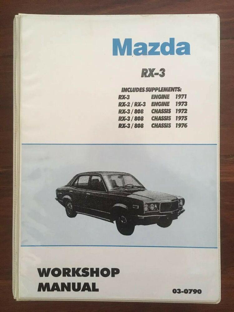 Ebay Advertisement  Mazda Rx3 Rotary Workshop Manual 10a