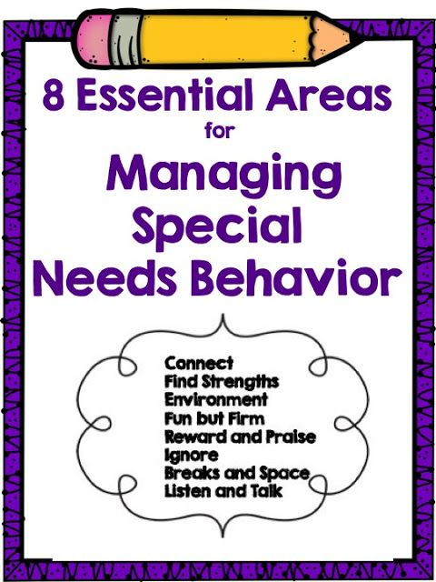 Essential Areas For Managing Special Needs Behavior  Behavior