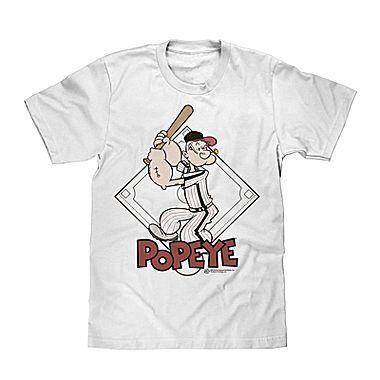 Jcp Novelty Popeye Baseball Short Sleeve T Shirt Beisbol Beis Blusas