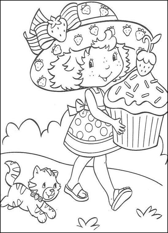Dibujos para Colorear Fresita-Tarta de Fresa 23 | Dibujos para ...