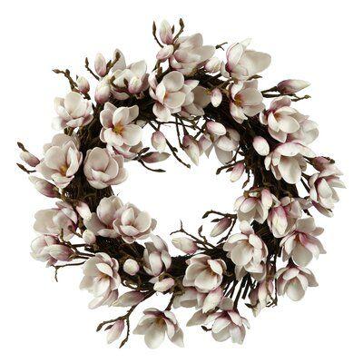"Photo of Winward Silks Faux 24 ""Lavender Tulip Magnolia Wreath"