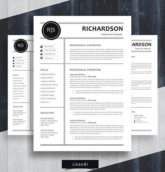 minimal resume    cv template for word    two pages resume     u0026quot robert john u0026quot  teacher resume    cv