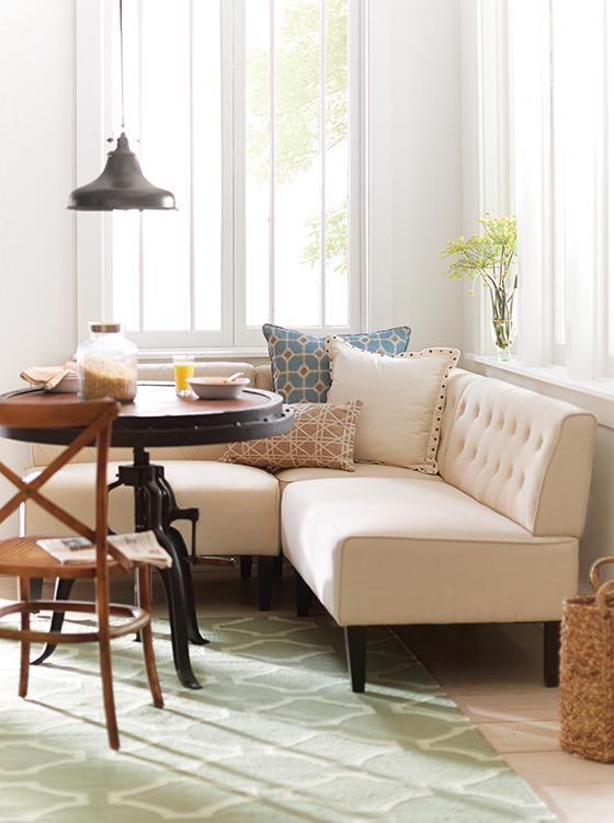 Easton breakfast nook upholstered banquette eat in Breakfast nook bar ideas