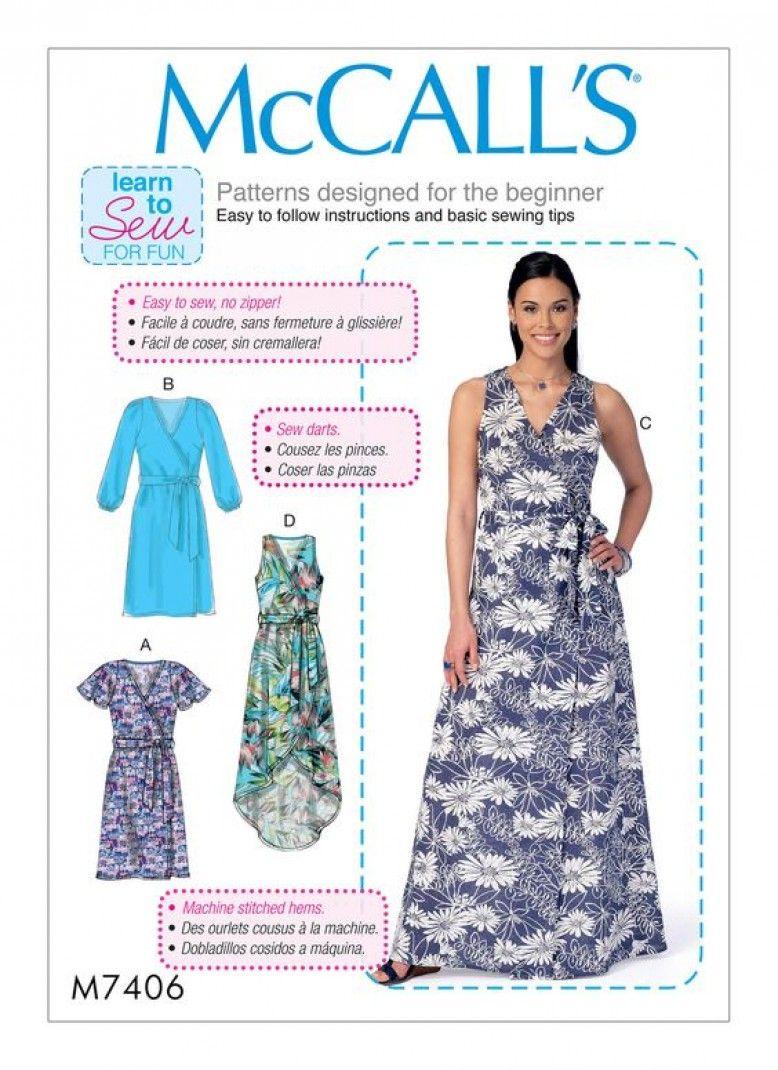 A Floaty Wrap Dress Mccalls M7406 Blogger Network Minerva