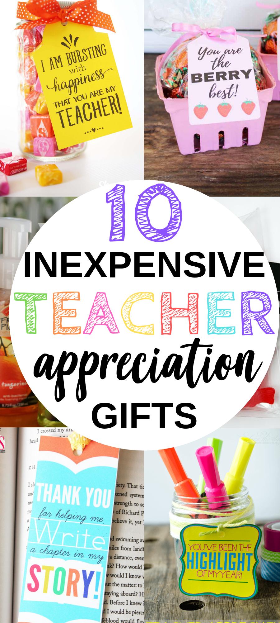 10 Inexpensive Teacher Appreciation Gift Ideas