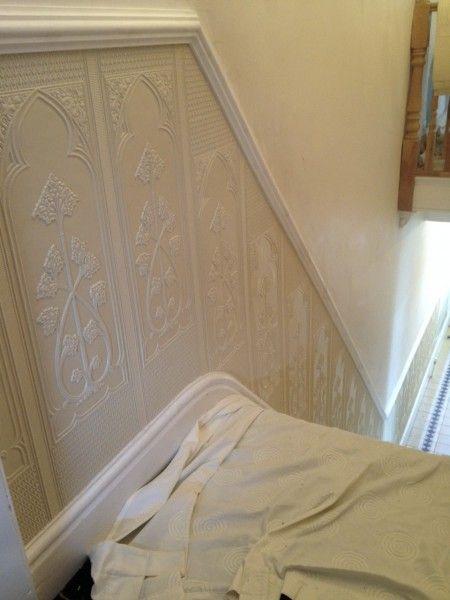 Lighting Basement Washroom Stairs: Lincrusta Dado Panel Cheshire
