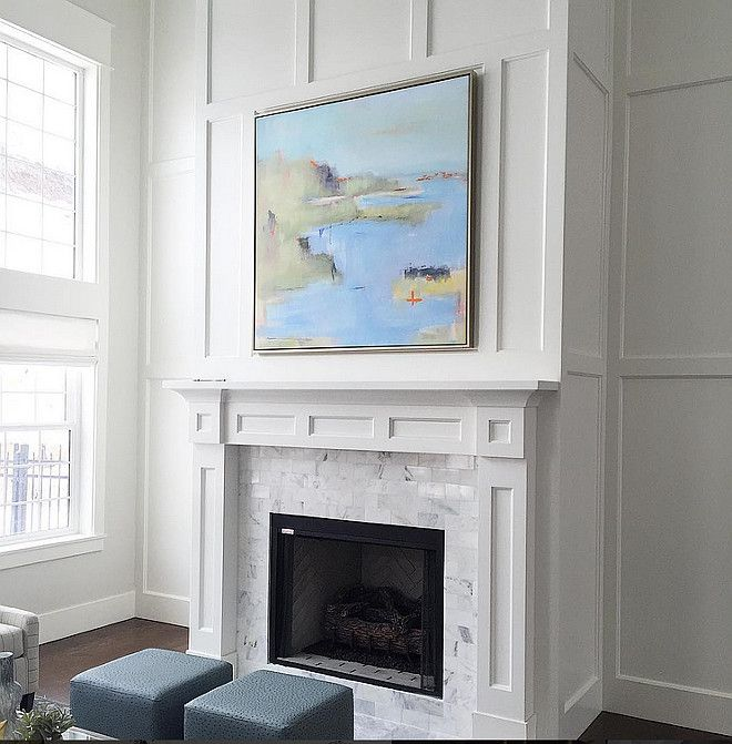 Fireplace Wall Living Room With Tall Decorating