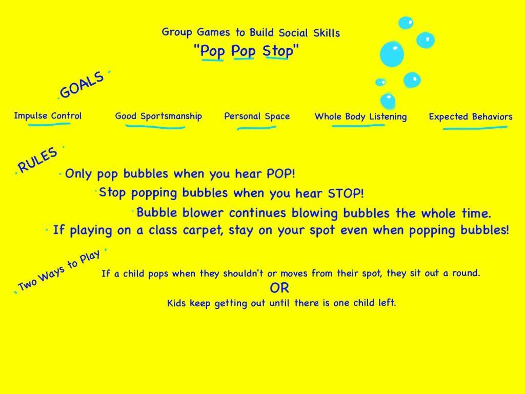 Group Social Skills Game