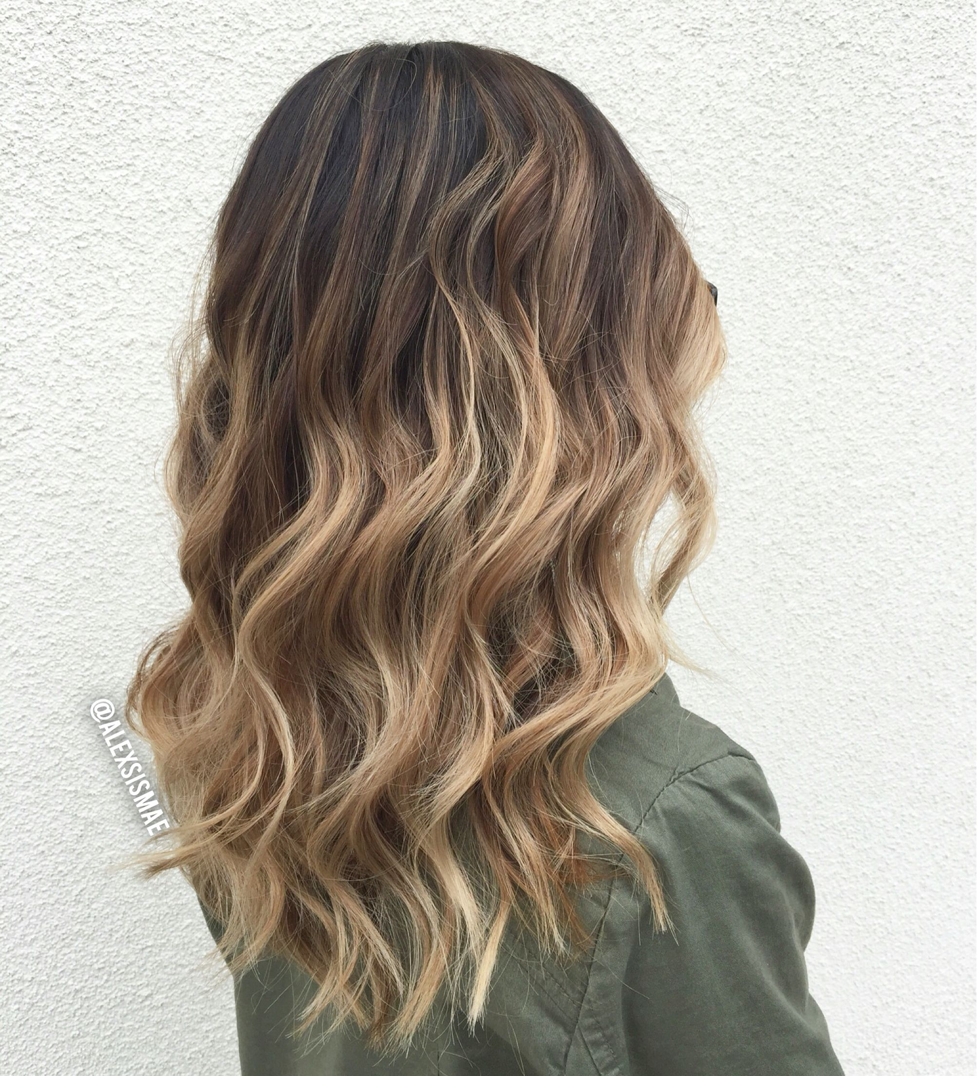 Dark Brown To Ashy Blonde Sombre Balayage Hair Color Done By Alexsismae Balayage Hair Brown To Blonde Balayage Balayage Hair Dark