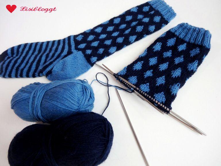 Photo of Anleitung: Punktsocken mit einem einfachen norwegischen Muster stricken