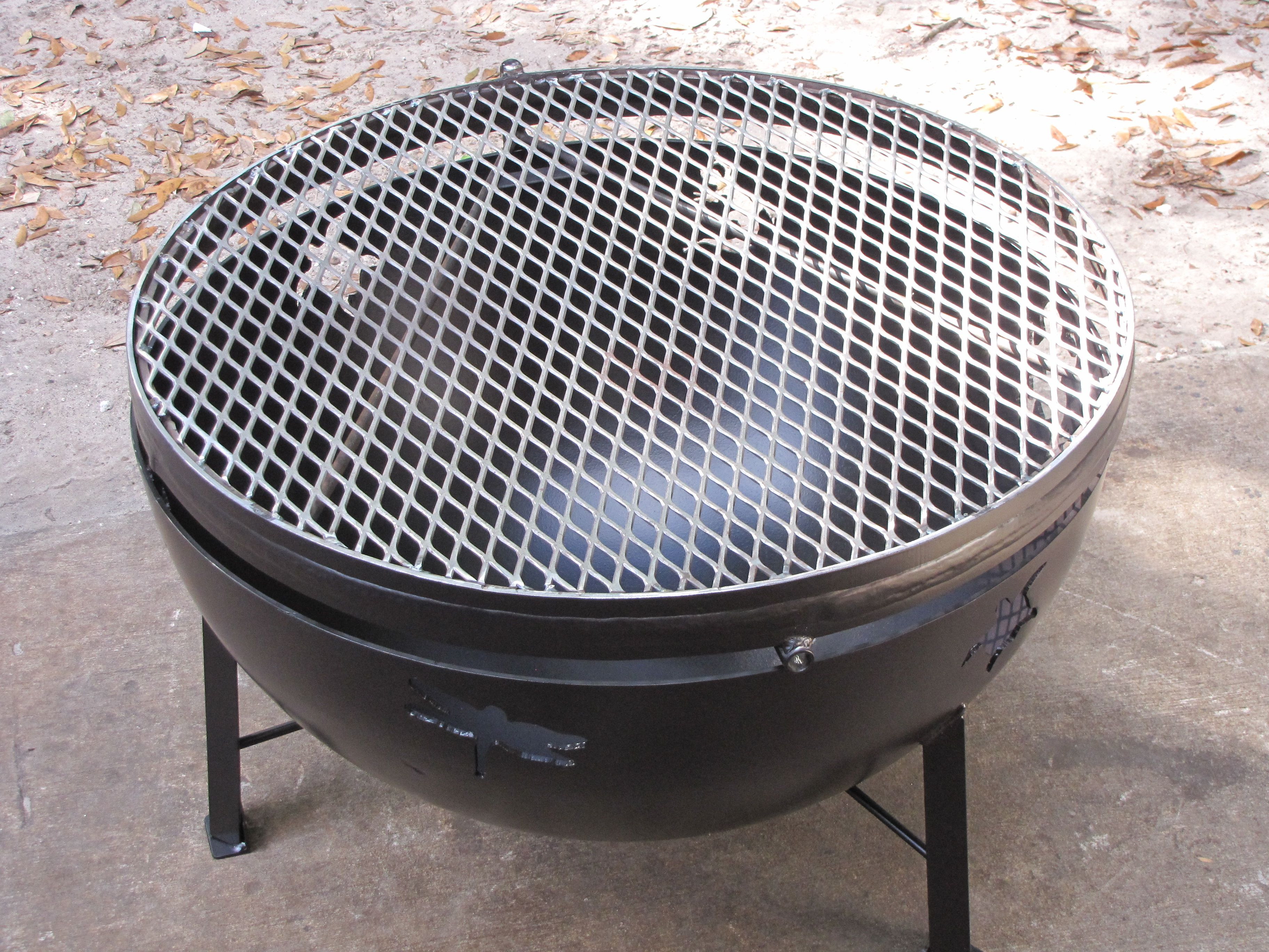 30 Fire Pit With Cook Grate Fire Pit With Cooking Grate Outdoor Cooking Garage Remodel