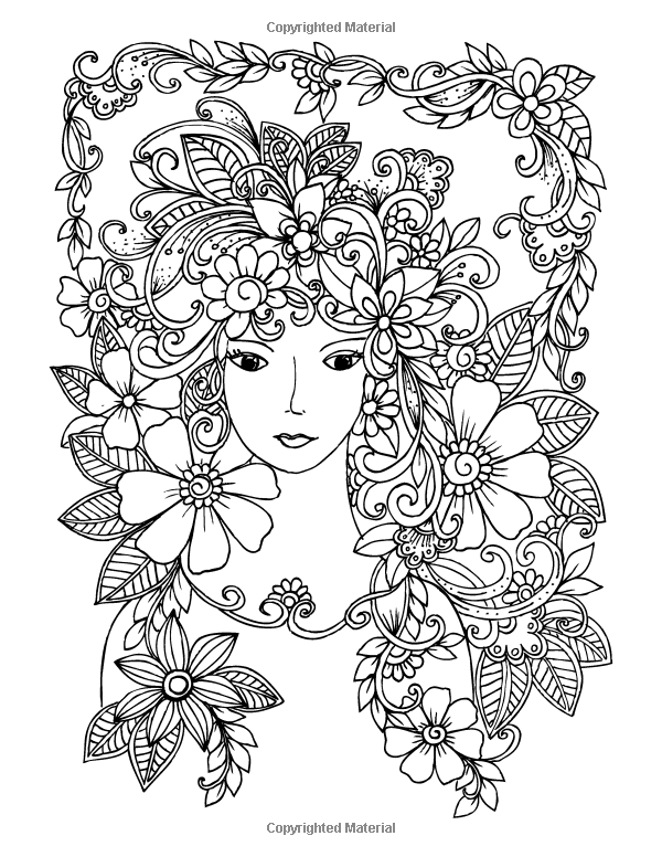 Amazon.com: Faces Coloring Book for Grown-Ups 1 (Volume 1 ...