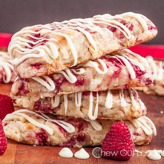 White chocolate raspberry scones - eat quickly, they're pretty wet so they mold fast