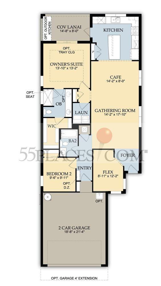 Taft Street Floorplan 1433 Sq Ft Del Webb Naples Floor Plans Taft Gathering Room