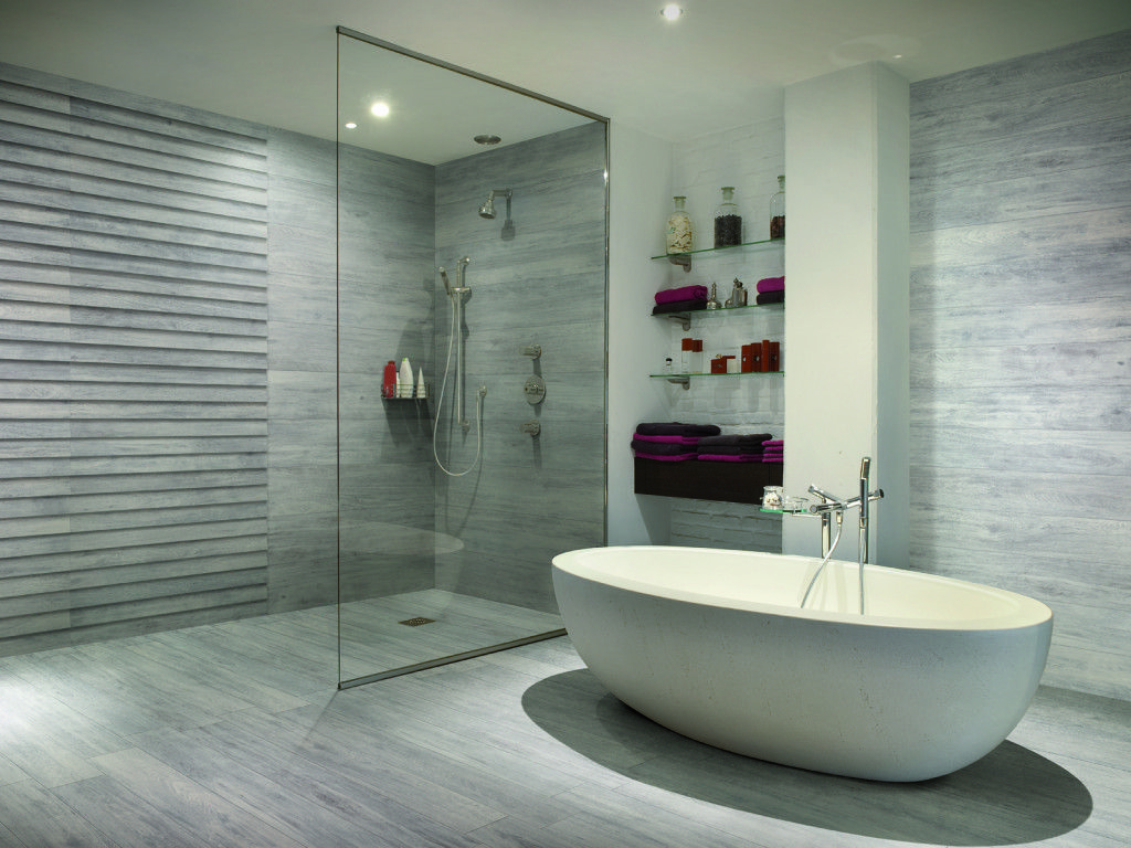 gres porcellanato in bagno | bagni in gres | Pinterest | Shower ...