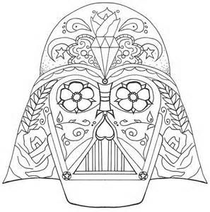Darth Vader Sugar Skull Skull Coloring Pages Coloring Pages Disney Coloring Pages