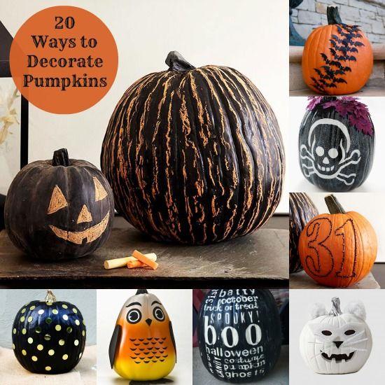 20 Fun Ways To Decorate A Pumpkin (Real Or Fake)