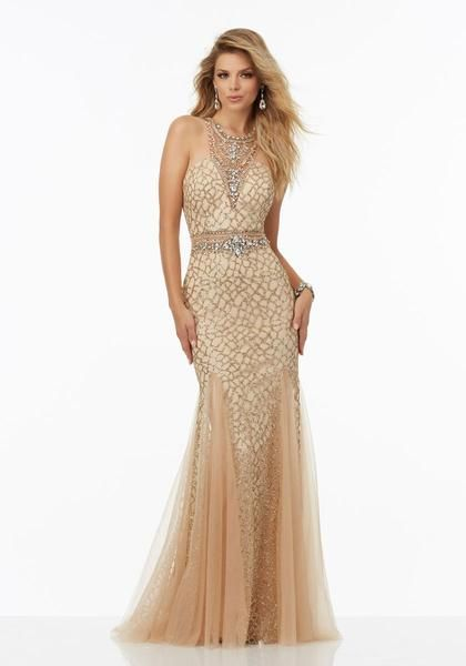 Fully+Beaded+Net+Prom+Dress+Featuring+Caviar+Beading+and+Jeweled+ ...